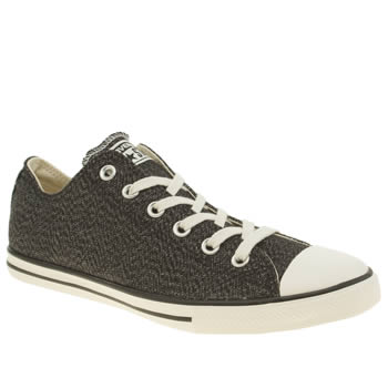 Mens Converse Black Lean Ox Trainers