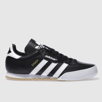 Mens Adidas Black & White Samba Super Trainers