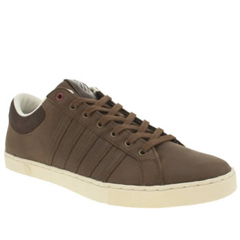 Mens K-Swiss Dark Brown Adcourt 72 Trainers
