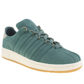 Mens K-Swiss Green Classic Vintage Trainers