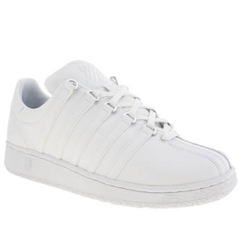 Mens K-Swiss White Classic Vin Trainers