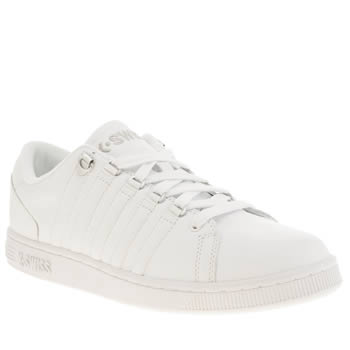 Mens K-Swiss White Lozan Trainers
