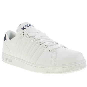 Mens K-Swiss White & Navy Lozan Iii Trainers