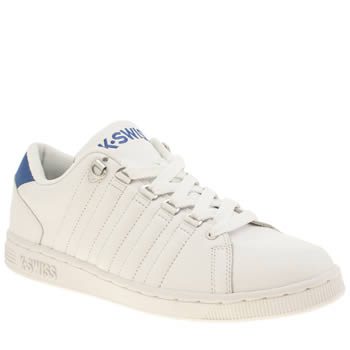 Mens K-Swiss White & Blue Lozan Trainers