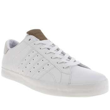 Mens K-Swiss White Belmont Trainers
