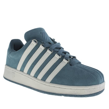 Mens K-Swiss Blue Classic Vn Suede Trainers