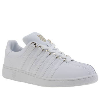 Mens K-Swiss White Classic Vn 50th Trainers