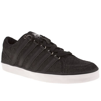 mens k-swiss black gowmet ii t vnz trainers