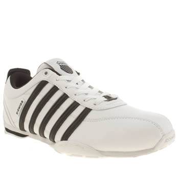 Mens K-Swiss White & Black Arvee 1-5 Trainers