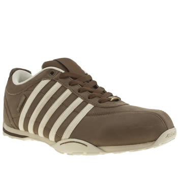 Mens K-Swiss Brown & Stone Arvee 1-5 Trainers
