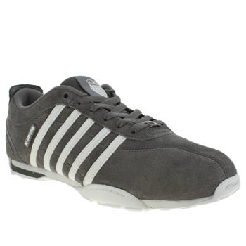 K-Swiss Grey & White Arvee 1-5 Trainers