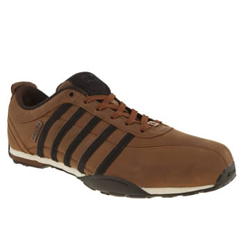 mens k-swiss brown & black arvee 1-5 trainers