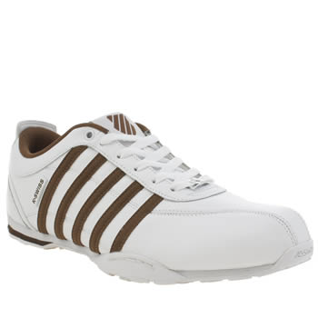 Mens K-Swiss White & Brown Arvee 1.5 Trainers