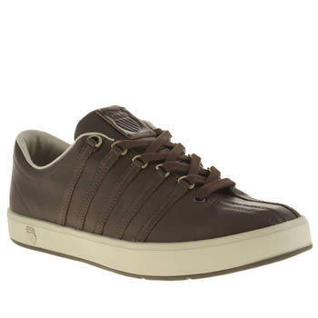 Mens K-Swiss Dark Brown The Classic Trainers