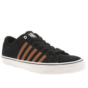 Mens K-Swiss Black Adcourt La Trainers