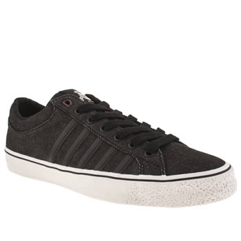 mens k-swiss black & white adcourt la trainers