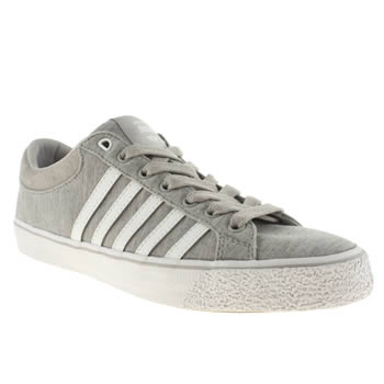 Mens K-Swiss Light Grey Adcourt La Trainers