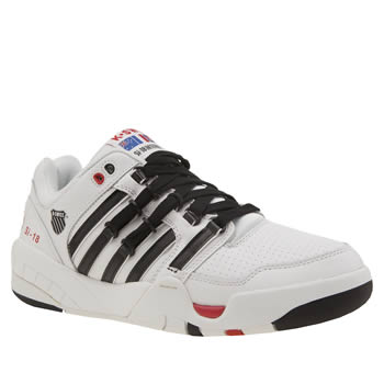 K-Swiss White & Black Si-18 International Og Trainers