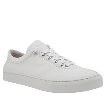 K-Swiss White Court Classico Mens Trainers