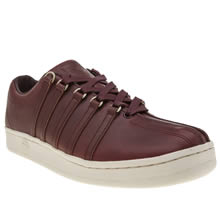 K-Swiss Burgundy Classic 88 Horween Mens Trainers