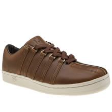 K-Swiss Tan Classic 88 Horween Mens Trainers