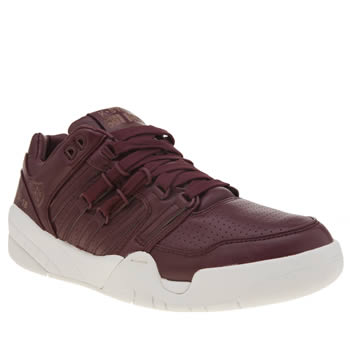 K-Swiss Burgundy Si-18 International Lux Trainers