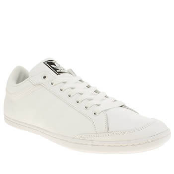 Mens Adidas White Plimcana Low Trainers