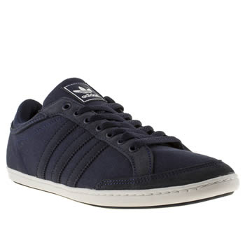 mens adidas navy plimcana low trainers