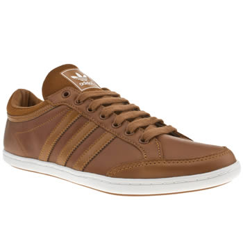 mens adidas brown plimcana low trainers