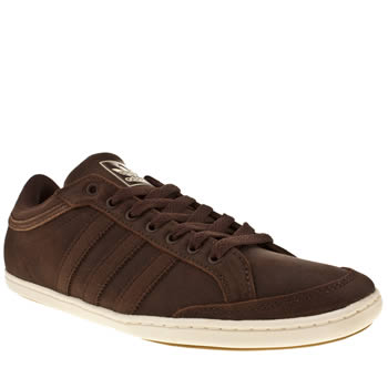 mens adidas dark brown plimcana low trainers
