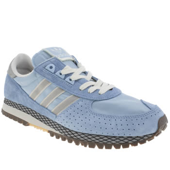 Mens Adidas Pale Blue City Marathon Pt Trainers