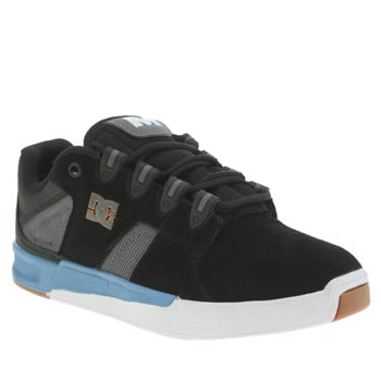 Mens Dc Shoes Black and blue Maddo Trainers