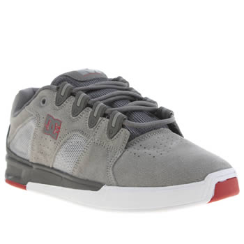 Mens Dc Shoes Light Grey Maddo Trainers