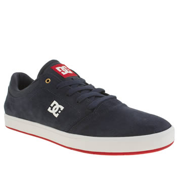 Mens Dc Shoes Navy & Red Crisis Trainers