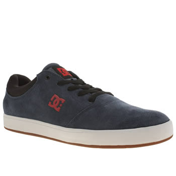 Mens Dc Shoes Navy & Black Crisis Trainers