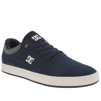 Mens Dc Shoes Navy & White Crisis Trainers