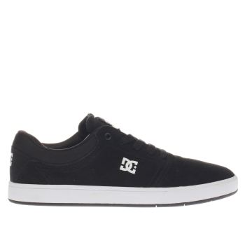 Mens Dc Shoes Black & White Crisis Trainers