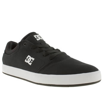Mens Dc Shoes Black & White Crisis Tx Trainers