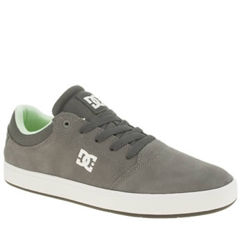 Mens Dc Shoes Grey Crisis Trainers
