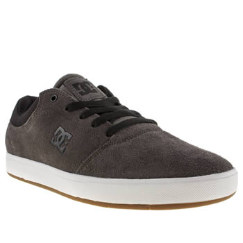 Mens Dc Shoes Dark Grey Crisis Trainers