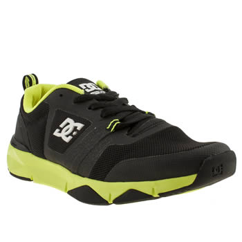mens dc shoes black unilite flex trainers