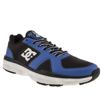 mens dc shoes black and blue unilite trainers