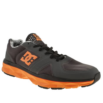 mens dc shoes dark grey unilite trainers