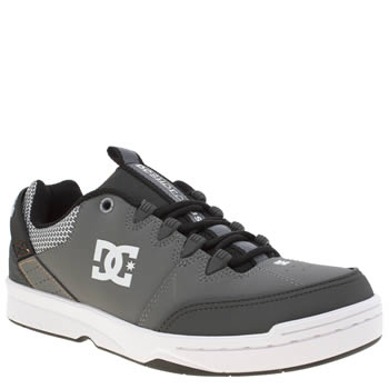 Dc Shoes Grey & Black Syntax Mens Trainers