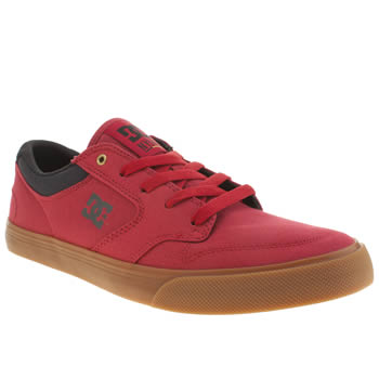 Mens Dc Shoes Red Nyjah Vulc Tx Trainers