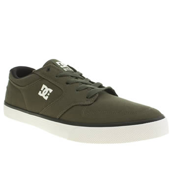 Mens Dc Shoes Dark Green Nyjah Vulc Tx Trainers