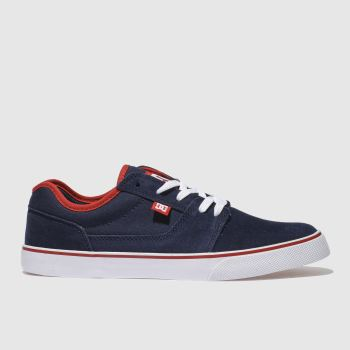 mens dc shoes navy & red tonik trainers