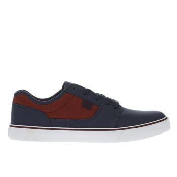 Dc Shoes Navy & Burgundy Tonik Tx Trainers