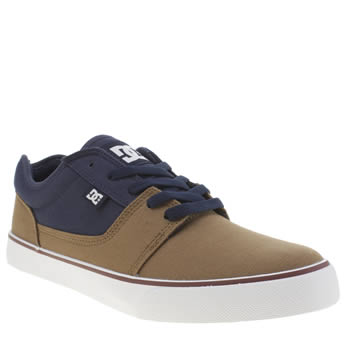 Dc Shoes Brown & Navy Tonik Tx Trainers