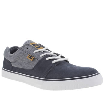 Mens Dc Shoes Navy & White Tonik Trainers